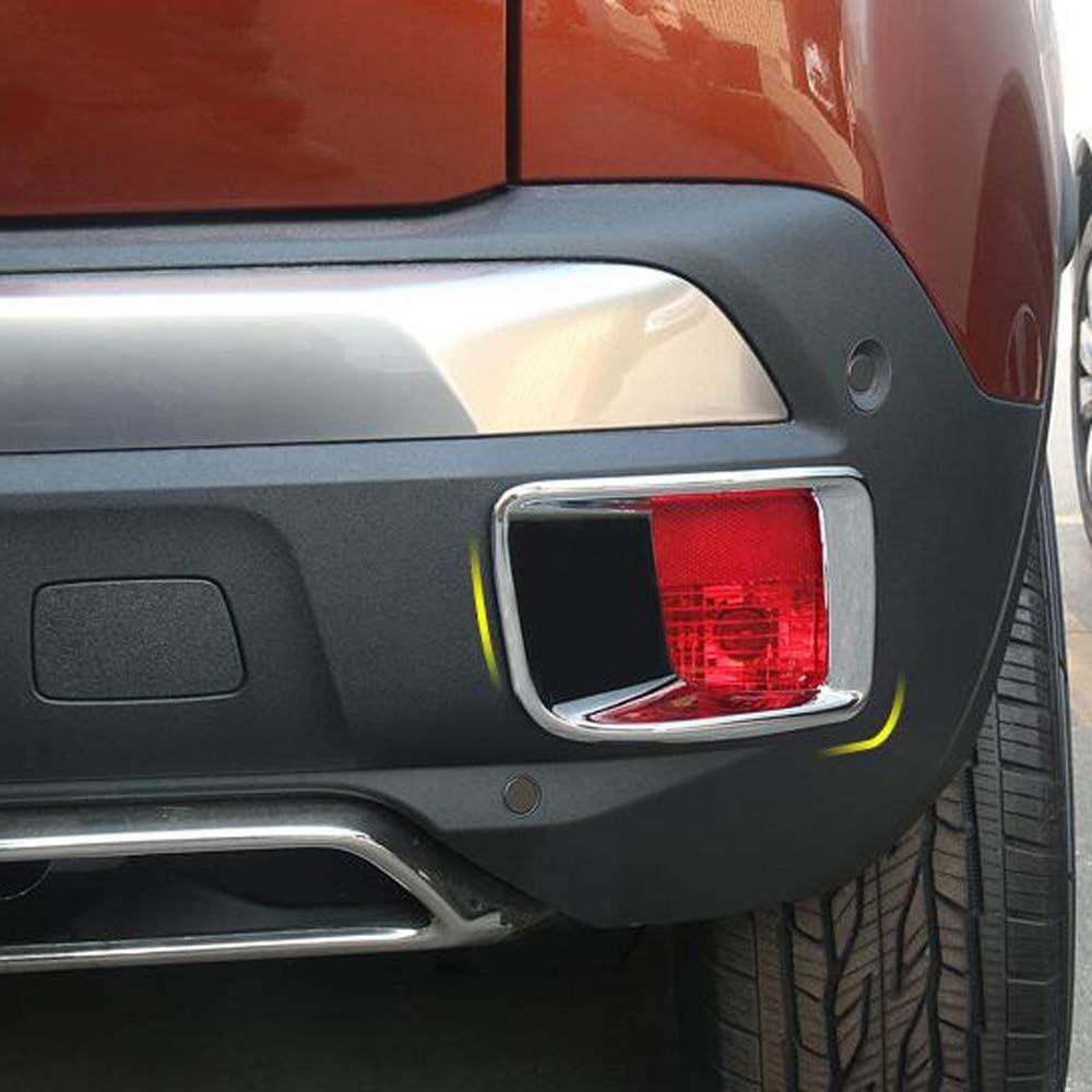 Chrom-Heckleuchtenabdeckung Verkleidung Nebelscheinwerfer Motorhaube Zubeh/ör Auto Styling Qwjdsb F/ür Peugeot 3008 GT 2017 2018 2019 2020