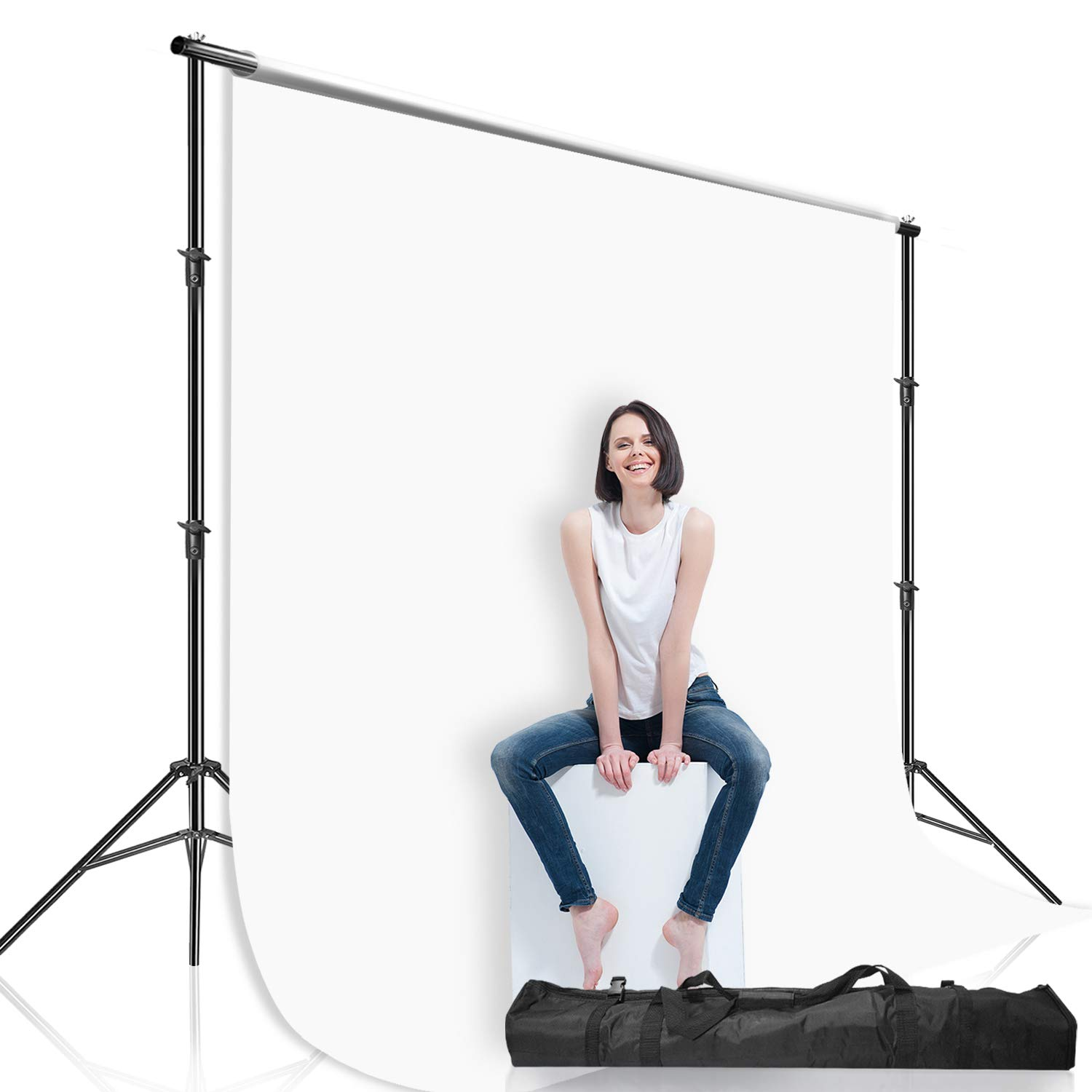 Julius Studio 10 ft Max Wide Adjustable Background Support Stand/Equipment Used in Photo Video Studio for Backdrops with, Muslins with Carry Bag, LNA1106 by Julius Studio (Image #2)