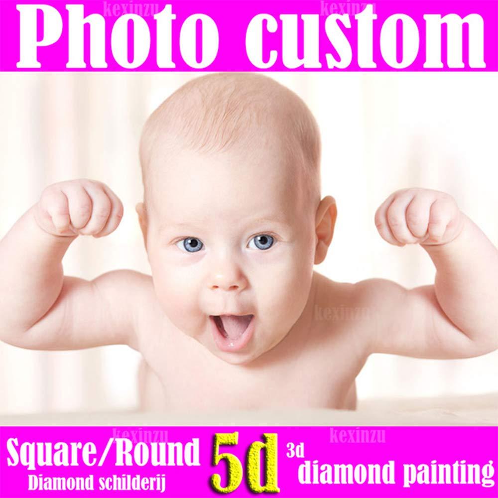 5D DIY写真 カスタムダイヤモンド刺繍 DIYダイヤモンド絵画 フルスクエア DIYダイヤモンド絵画 カスタムモザイク絵画壁装飾 120X90CM B07K592K5C 正方形 120X90CM