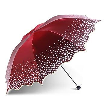 Paraguas La sombrilla Paraguas viaje paraviento Anti-Uv soleado día lluvioso de acero inoxidable resistente