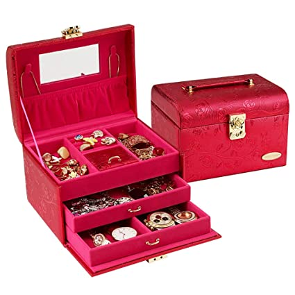 Cajas de joyería Joyas de cajón, Organizador de Joyas para ...