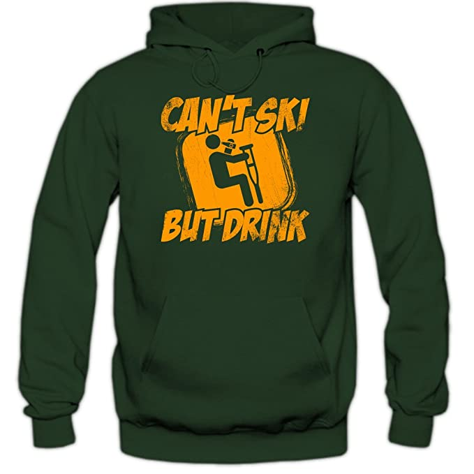 Shirt Happenz Cant Ski, But Drink Sudadera con Capucha | Hombre | Deporte