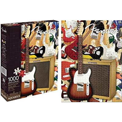 Aquarius Fender Collage 1000 Piece Jigsaw Puzzle: Game: Toys & Games