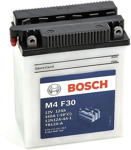 12V Plomo 12A//h-120A YB12A-A Bosch M4F30 Bater/ía motocicleta 12N12A-4A-1