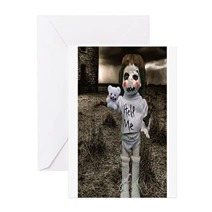 Amazon Cafepress Creepy Anne Doll Greeting Card Note Card