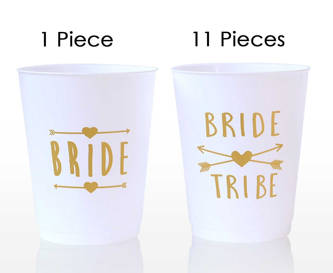 (12 Pack ) Bride and Bride Tribe Cups White - for Bachelorette, Bridal, & Hen Parties