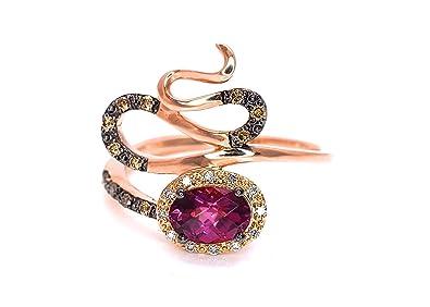 b7ed416f3abce Amazon.com: LeVian Rhodolite Garnet Chocolate White Diamonds Swirl ...