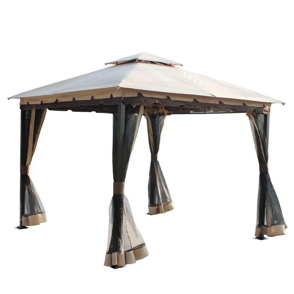 Amazon.de: 10 \'x 10\' Metall Pavillon mit Dach und Netz
