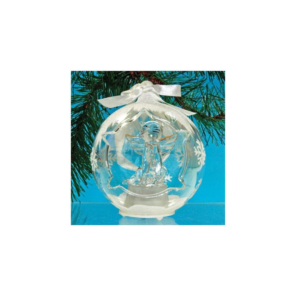 Christmas Ornament with Rainbow Bridge Poem, Cat Remembrance Ornament, Glass, LED Color Changing, 3.5 Diameter