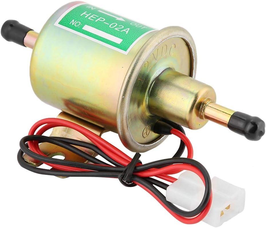 Qii lu 70L / hora Bomba de combustible eléctrica de baja presión 12 / 24V Kit de instalación de bomba de gasolina diesel en línea universal HEP-02A