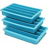 Webake 3-pack Silicone Ice Tray, Ice Mold, Slot Shape (4-Cavity)