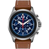Armourlite AL834 Officer Series Chrono Blue Dial Watch - Brown Leather Band