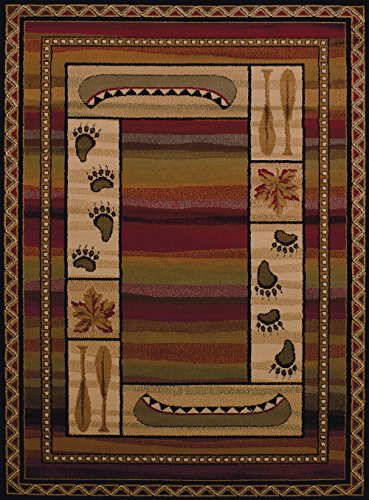 United Weavers of America Affinity Collection Canoe Sunset Rug, 1-Foot 10-Inch by 7-Feet 2-Inch, Brown from United Weavers of America