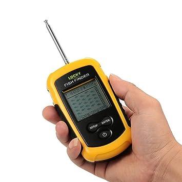 docooler portátil inalámbrico buscador de peces sonar Sensor transductor profundidad Sonar Sounder Alarma Buscador de pesca
