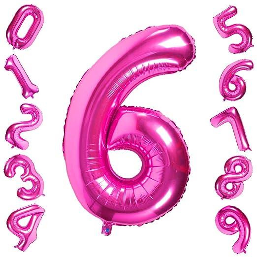 42 Pulgadas Grandes Globos Púrpuras Números 6, Globos ...