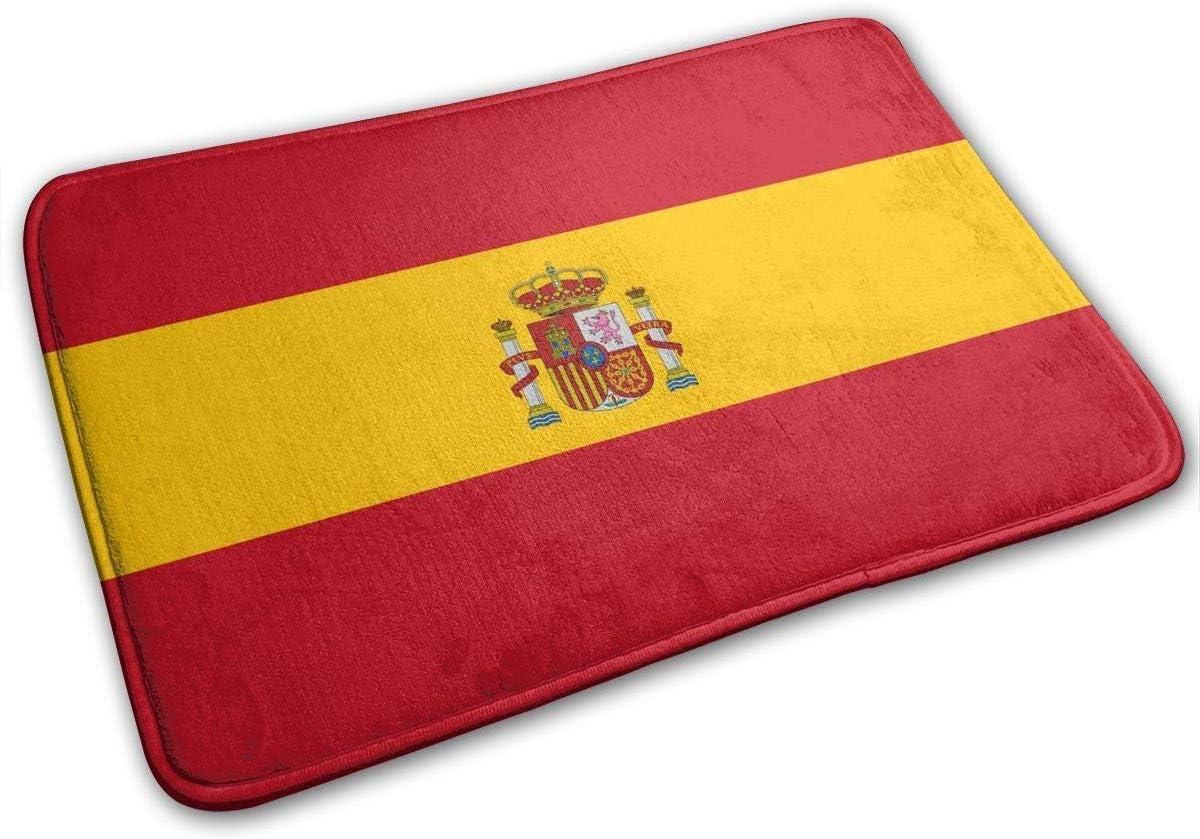 Alfombra antideslizante con diseño de la bandera de España, 23,6 x 15,7 pulgadas: Amazon.es: Hogar