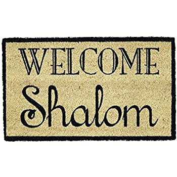 DII CAMZ10829 Coir Holiday Doormat, Shalom