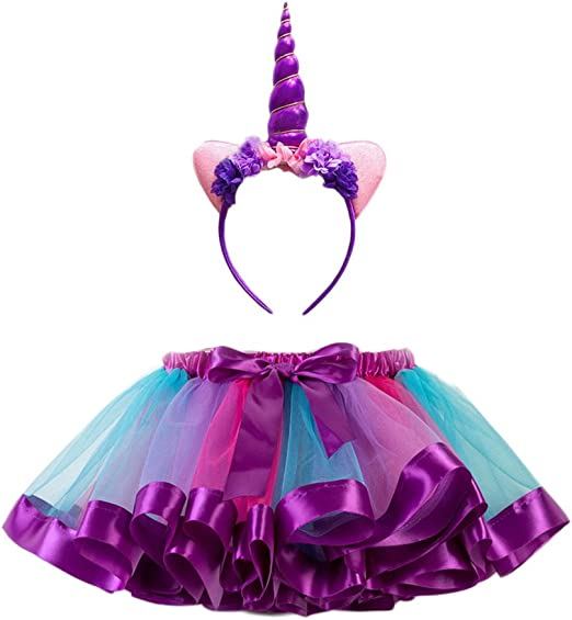 FENICAL Disfraz de Unicornio para Niñas Diadema Unicornio Floral ...
