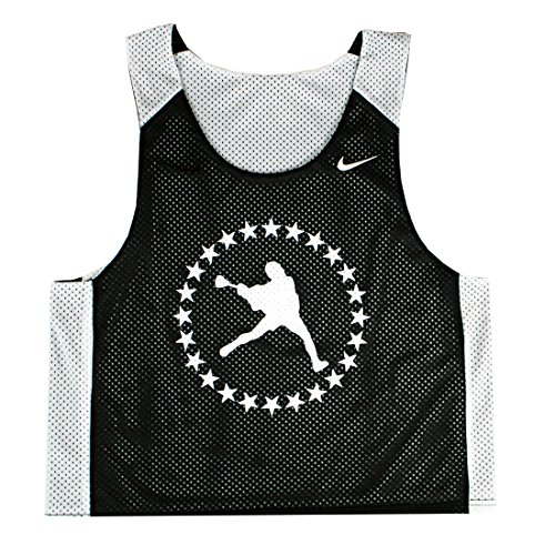 LU Black Circle Lacrosse Reversible Pinnie - Adult S-M (Lax Pinnies Men)