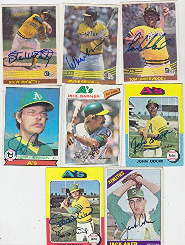 (1977 TOPPS SIGNED CARD PHIL GARNER ATHLETICS A'S PIRATES ASTROS DODGERS # 261)