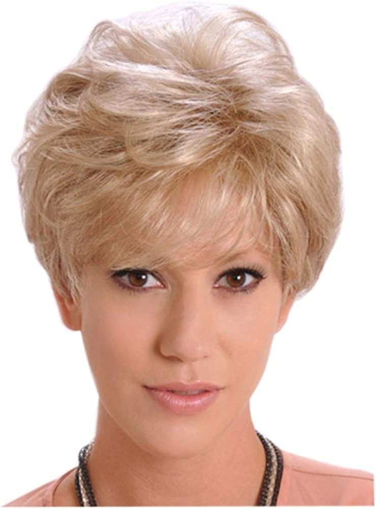Amazon Com Young Girls Kinky Curly Short Hair Blanche Ladies Light Golden Wig Little Wavy Wig Clothing
