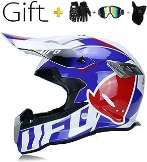 SK-LBB Motocross MX Casco moto cross cross caschi City caschi moto motocross caschi /& guanti /& occhiali di protezione D.O.T Standard bambini Quad Bike ATV Go-Kart casco