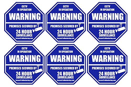 Octagon Shaped Surveillance System Security Stickers product image