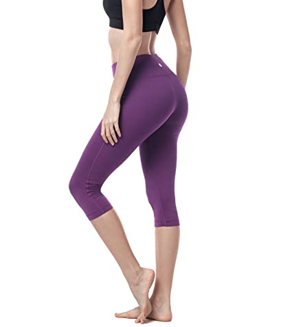 06f3b0f678e33 Amazon.com: LAPASA High Waist Yoga Capri Tummy Control Sports Leggings  Workout Capris L02: Clothing