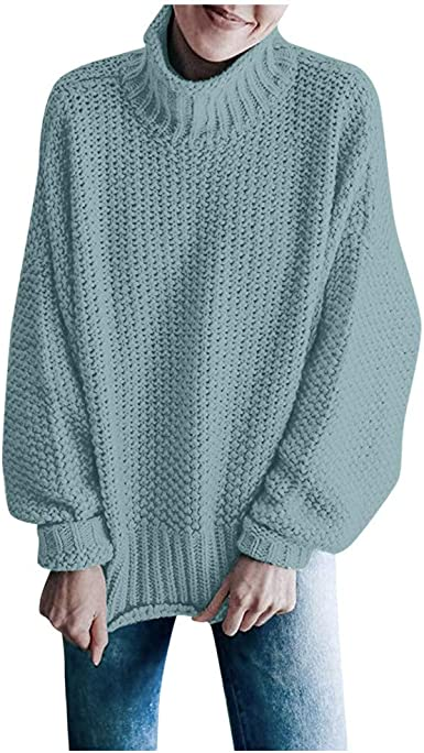 Womens Knitted Long Sleeve Sweater Top Lady Blouse Oversize Jumper Pullover 2019