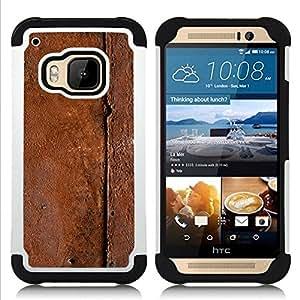 """Pulsar ( Patrón Metal Naturaleza Marrón"""" ) HTC One M9 /M9s / One Hima híbrida Heavy Duty Impact pesado deber de protección a los choques caso Carcasa de parachoques [Ne"""