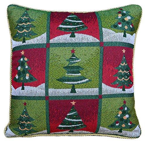 Vintage Christmas Square Pillowcase Cushion