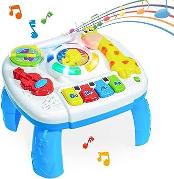 HERSITY Mesa de Actividades Juguetes Musicales para Bebés ...