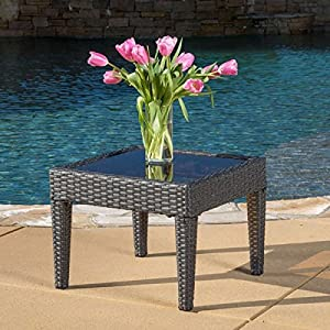 Patio Furniture / Coffee Table,Christopher Knight Home Outdoor Antibes  Wicker Accent Table 296064 ( 15 Part 61