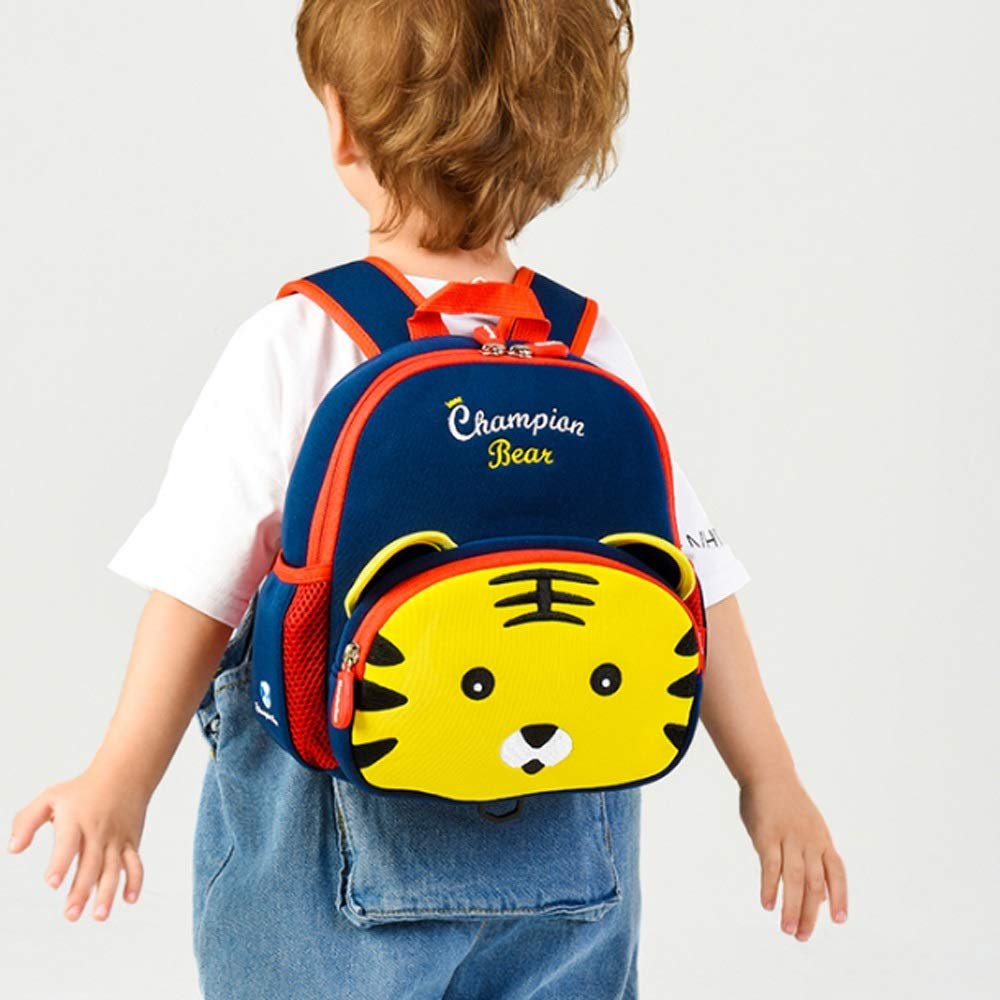 QWEER Anti-Lost Shoulder Bag Diving Material Anti-Lost Bag Kindergarten Boys and Girls 1-3-6 Years Old Cute Little School Bag Children Backpack Soft Breathable Large Capacity Design by QWEER (Image #5)