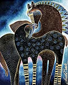 DIY Paint By Number Kits No Mixing / No Blending Linen Canvas Painting - Abstract Horse