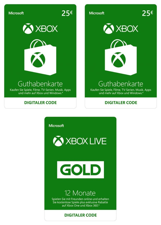 xbox one karte Amazon.de: Gold Mitgliedschaft   Xbox Live Codes: Games xbox one karte