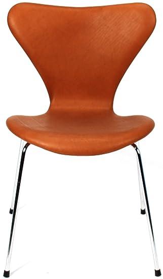 Amazon.de: Arne Jacobsen Serie 7 (3107) Stuhl mit Lederbezug ...
