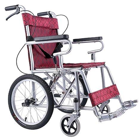 Silla De Ruedas Ligera Transporte Plegable Transporte Portátil Ancianos Discapacitados Aleación De Aluminio Manual Silla De