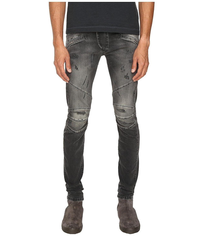 cb654017916 cheap Pierre Balmain Distressed Slim-Fit Biker Jeans, Black Distressed