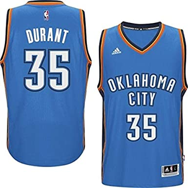 3921b48522c6 adidas Kevin Durant Oklahoma City Thunder Light Blue 2014-15 New Swingman  Road Jersey (