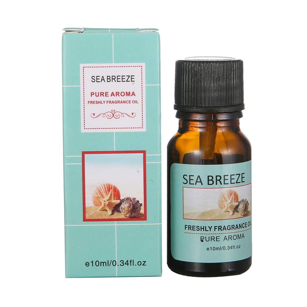 Chartsea 10ml Essential Oils Pure Natural Aromatherapy Oils Choose Fragrance Aroma (Sea breeze)
