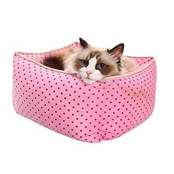 Aqi7 - Saco de Dormir Desmontable y Lavable para Gatos, Alfombrilla para Gatos y casetas