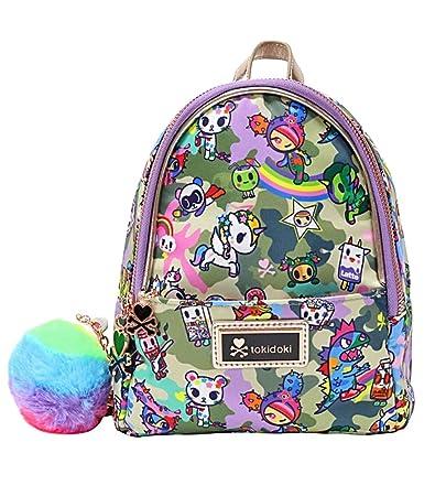 Tokidoki Camo Kawaii Mini Backpack with Pom Pom Charm