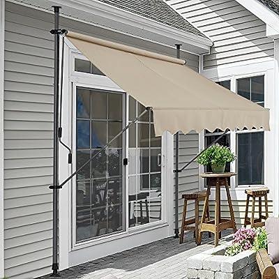 pro.tec] Toldo articulado con armazón - Color de Arena - 200 x 120 x 200-300 cm - Toldo Enrollable terraza balcón - Protector de Sol - Parasol: Amazon.es: Hogar