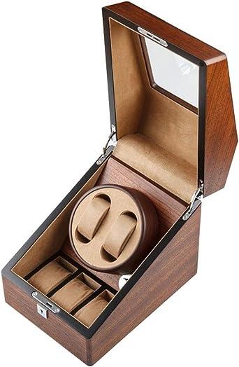 WCX Caja Giratoria para Relojes Enrollador Reloj para 2 Relojes Automáticos 3 Vitrina Almacenamiento Reloj Estuche de Almacenamiento para Relojes Exhibición (Color : Marrón): Amazon.es: Relojes