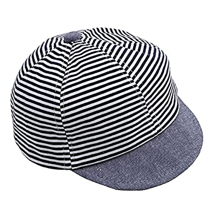 dd312f655d3 Image Unavailable. Image not available for. Color  Rurah Trendy Baby  Striped Baseball Cap Summer Cotton Toddler Kids Hats Infant Boys Girls Sun  Hat