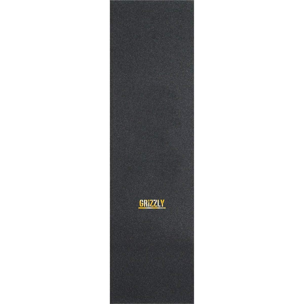 9 x 33 Grizzly Grip Tape Mini Stamp Black Gold Griptape