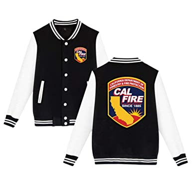 amazon com nbbsm california cal fire logo baseball uniform winter