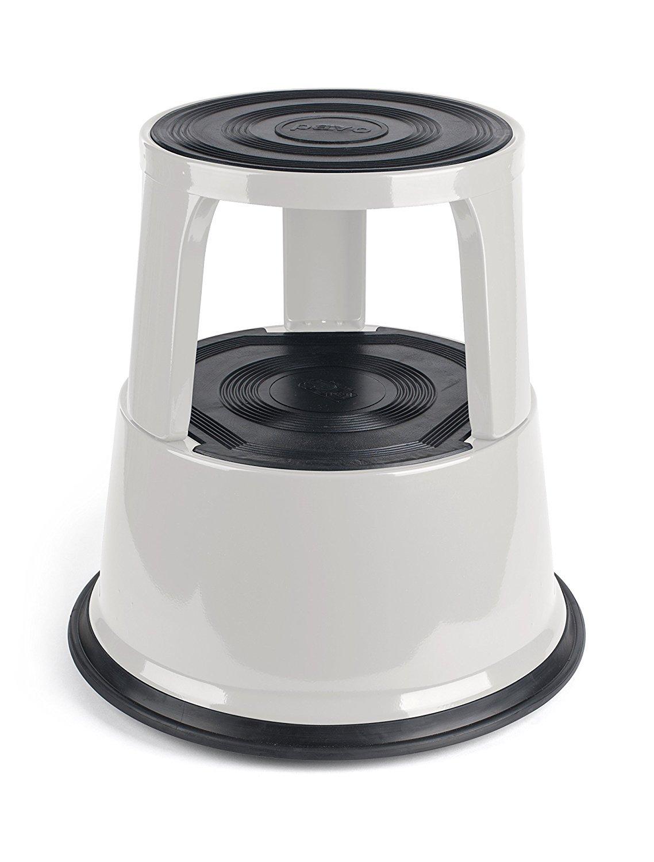 Pavo Premium Rolling Kick Step Stool Grey Ebay
