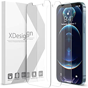 XDesign 3 Pack Screen Protector for iPhone 12 and iPhone 12 Pro 6.1-inch, Compatible with iPhone 12 & iPhone 12 Pro Tempered Glass Film with HD Clarity/Touch Accurate/Impact Absorb (2020)